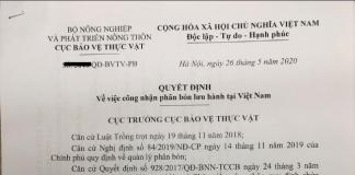 Dịch vụ xin giấy công nhận phân bón lưu hành lần đầu tiên tại Việt Nam